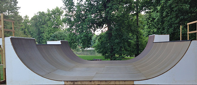 Skatelite Pro R50 Brown 6foot Halfpipe
