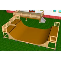 4' halfpipe w/ extension